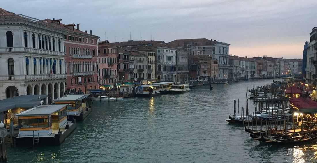 vue du grand canal de Venise